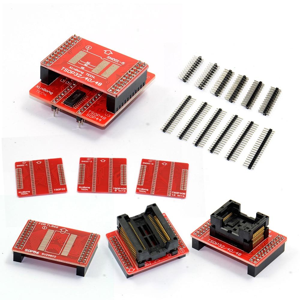 Original Adapters TSOP32 TSOP40 TSOP48 SOP44 SOP56 Adapter Kit For MiniPro TL866 TL866A TL866CS Universal Programmer