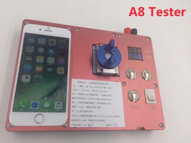 Free shipping new iphone 6 6p 6s plus 7 A8 A9 Cpu testing ic chip Tester stand Test Good or bad Tools Maintenance test fixture