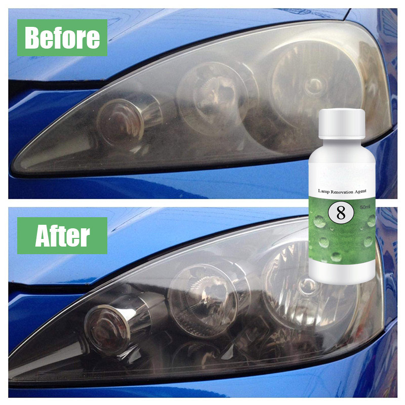 Paint Care Grinding Polishing Paste & Liquid 20/50ml Headlight Paint Care Car Polish Car Lens Restoration Kit Headlight Brightening Repairing Tool M8617 High Quality