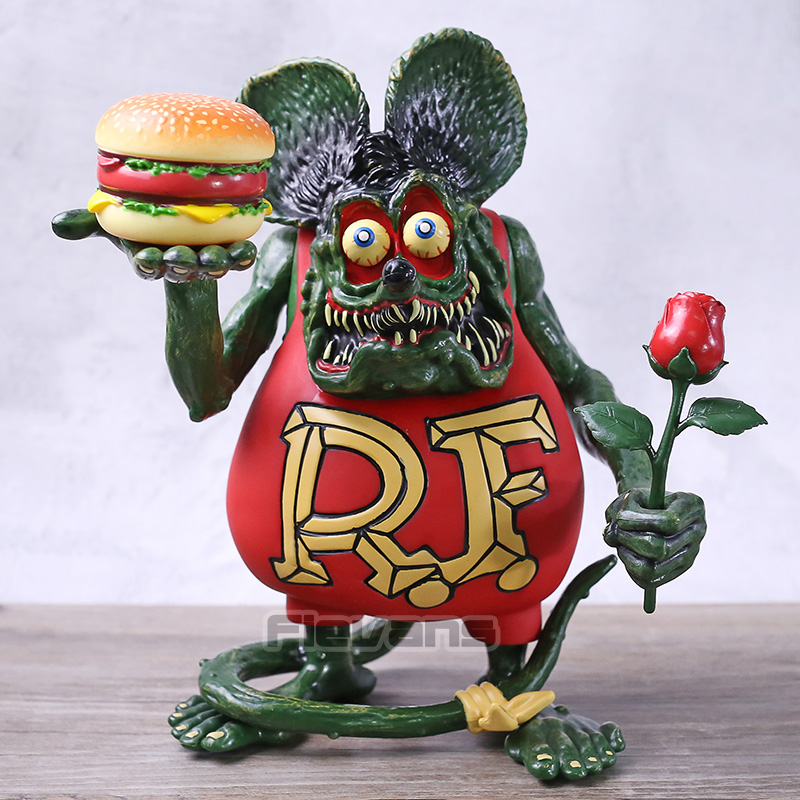 Rat Fink PVC Action Figure Toy Collectible Model Doll Cake Topper Kids Gift