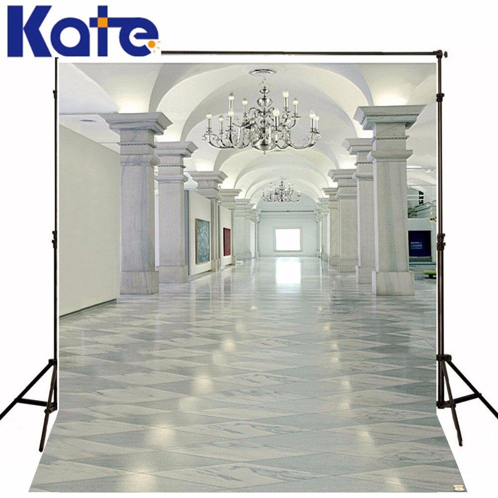 Kate 10x20ft White Wedding Photography Background Building Internal Open Photo Backdrop Washable Photo Booth Background 3419 LK kate photo background scenery