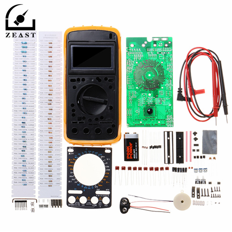 9205A Portable Digital Multimeter Learning Kit Students DIY Electronic Production Training Kit AC / DC Voltage Current 1set diy 7 tube am radio kit 525 1605khz 100mw electronic diy kit learning set
