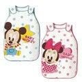 Bebê saco de dormir 100% algodão bandeira Microfleece Sleepsacks infantis Minnie Mickey bebê recém-nascido sacos de dormir