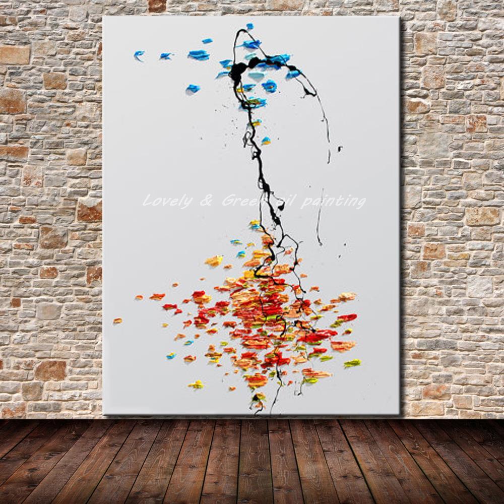 Pintados M O Moderna Pintura A Leo Abstrata Na Arte Da Parede  -> Tapete De Sala Pintado A Mao