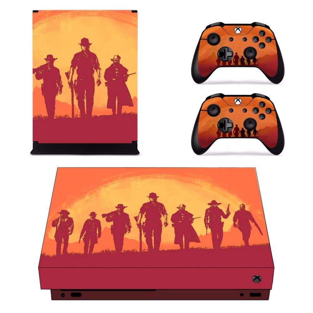 Red Dead Redemption 2 Set Completo Faceplate Autoadesivi Della Pelle per Xbox One X Console e Due Controller di