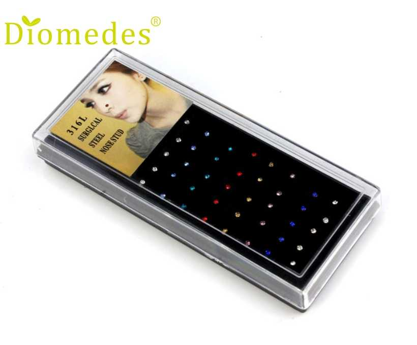Diomedes 40 PCS Fashion Stainless Steel Bedah Hidung Bibir Bar Tindik Anting Tindik Tubuh, Ekor Anting-Anting, Romanticparty