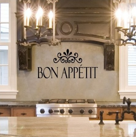 bon appetit vinyl kitchen lettering wall sayings home