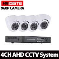HKISDISTE 4CH CCTV System 1080P HDMI AHD CCTV DVR 4PCS 1 3MP 2500TVL IR Dome Camera