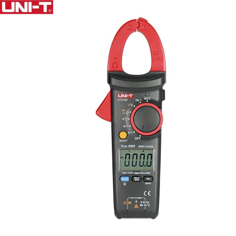 UNI-T UT213C 400A Digitale Misuratori di bloccaggio Tensione Resistenza Capacità Multimetro Temperatura Auto Gamma multimetro Diodo trueRMS