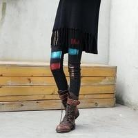 Winter Jeans Women Elastic Slim Plus Velvet Warm 2018 New Fashion Denim Paint Girl Studenrts Streetwear Black All-match Trousers