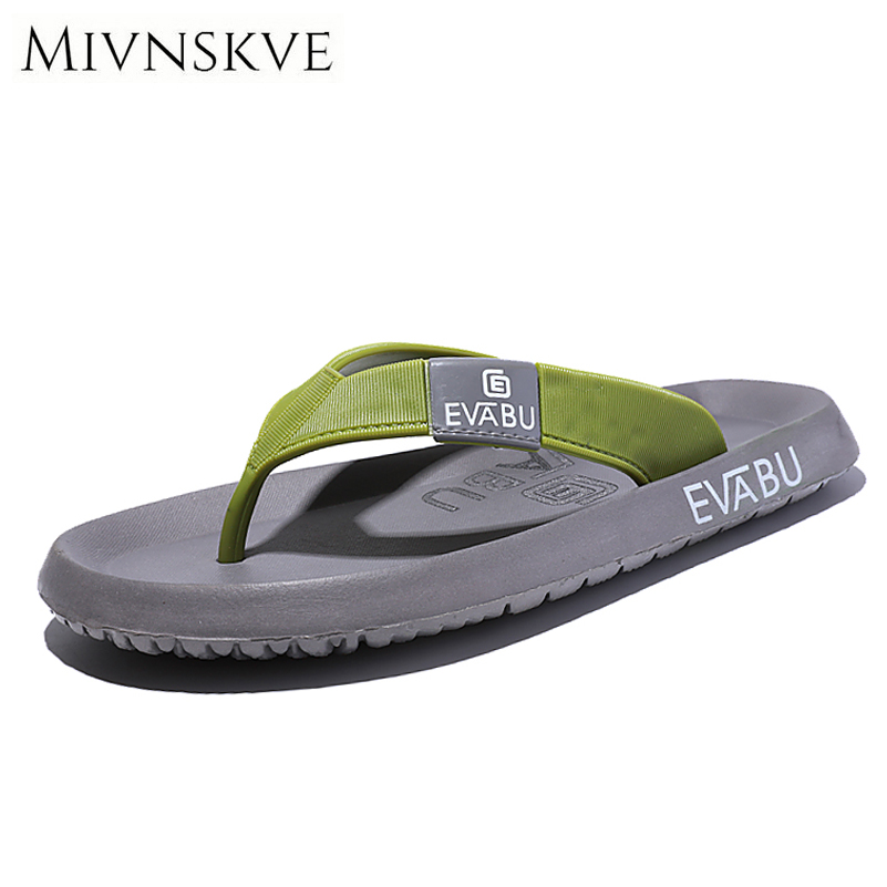 MIVNSKVE 2017 Summer Men Flip Flops Fashion High Quality Beach Sandals Shoes Non-slip Male Slippers Comfortable Men Casual Shoes 2pcs lot new brand summer flip flops men high quality beach sandals shoes men male slippers sandals comfortable men casual shoes