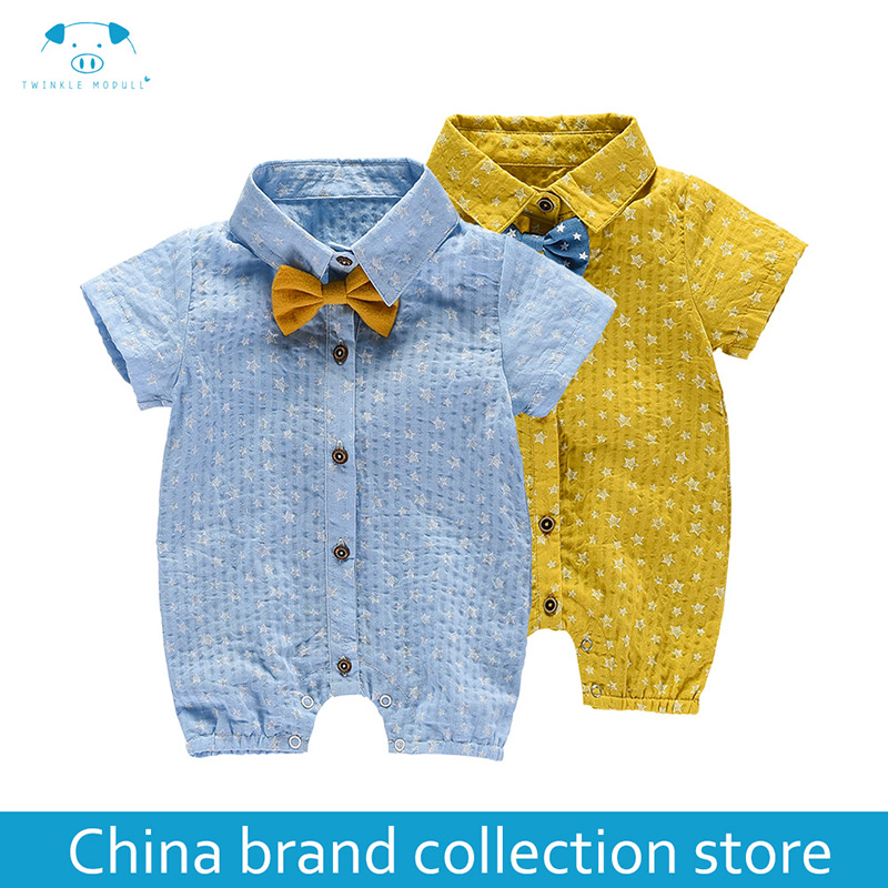 Baby Rompers Summer Style Powered Baby Boy Girl Clothing Newborn Infant Rabbit Short Sleeve Clothes Bebe MD170X014 3pcs set newborn infant baby boy girl clothes 2017 summer short sleeve leopard floral romper bodysuit headband shoes outfits