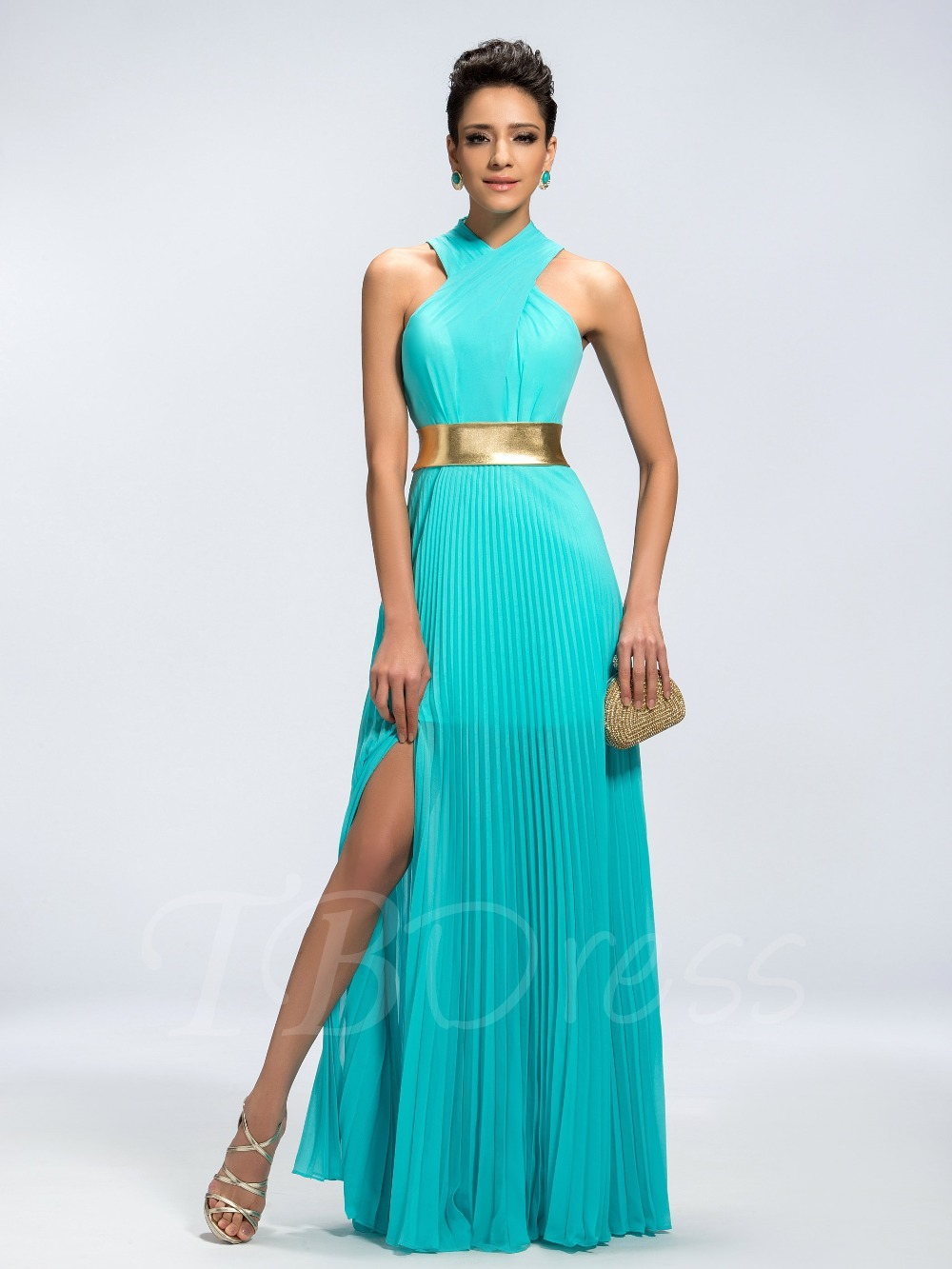 High Quality Turquoise Halter Dress-Buy Cheap Turquoise Halter ...
