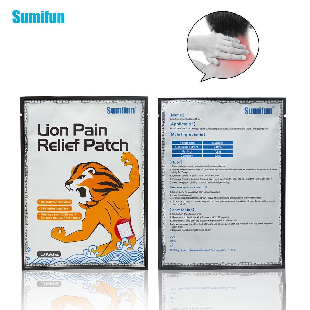 30Pcs Sumifun  New Lion Medical Plaster Balm Patch Cream Meridians Stress Pain Relief Arthritis Shoulder Muscle Plaster  D1260