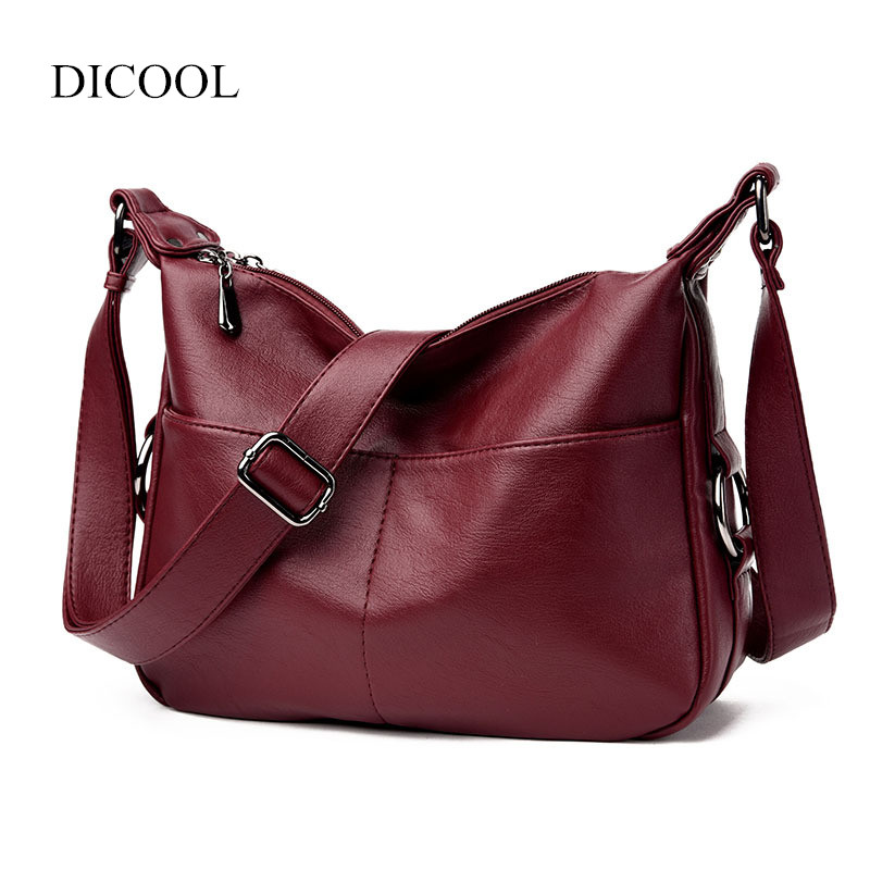 2018 Fashion Women Handbags New Design Soft Leather Shoulder & Messenger Bags Casual Bag etersto2018 new casual fashion stitching hit color handbags new fashion handbags parker women s party wallets ms messenger bag