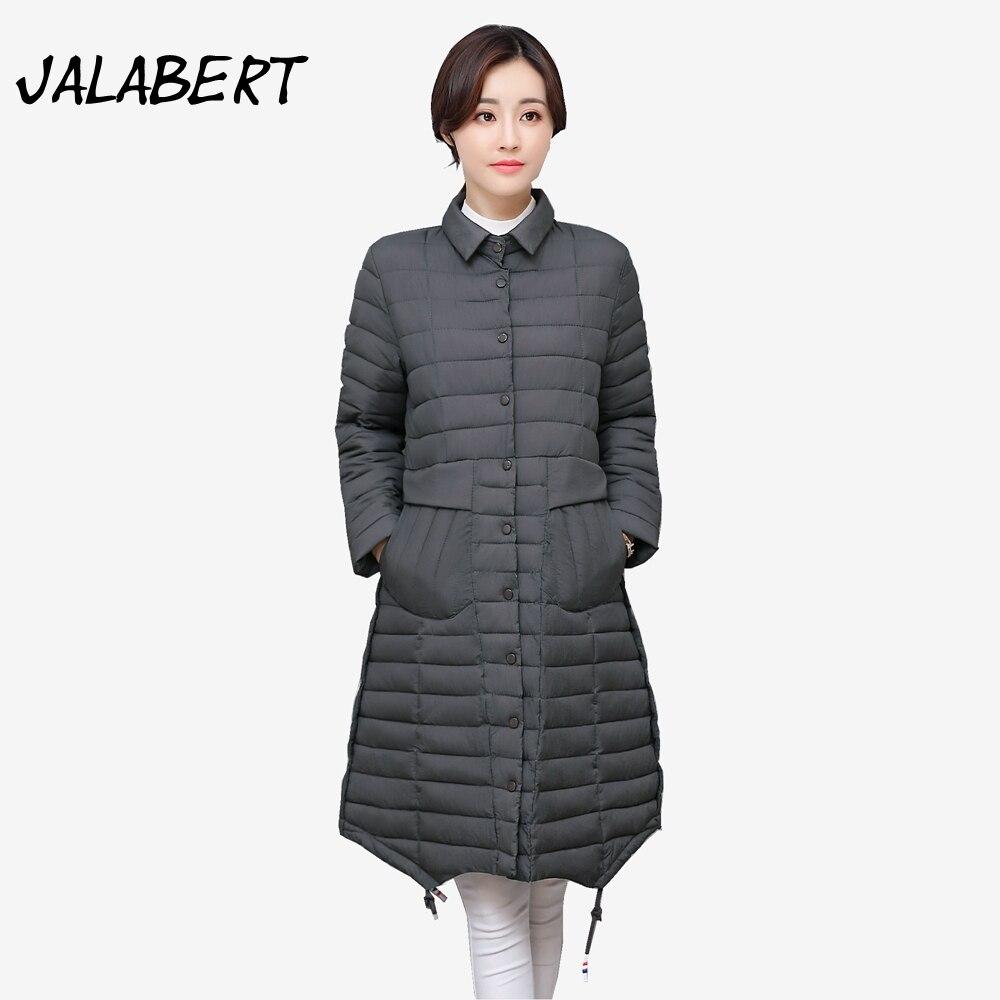 2017 new autumn winter women cotton coats  women long irregular Slim Single-breasted cotton jacket Female warm Parkas