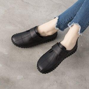 Image 5 - GKTINOO printemps dames en cuir véritable à la main chaussures femmes crochet & boucle chaussures plates femmes 2020 automne doux mocassins chaussures plates