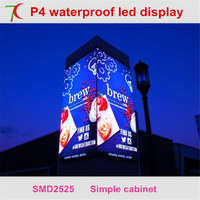 Wholesale ultra hd P4 smd outdoor full color leds display screen widely use for video wall ,62500dots/sqm,6500cd