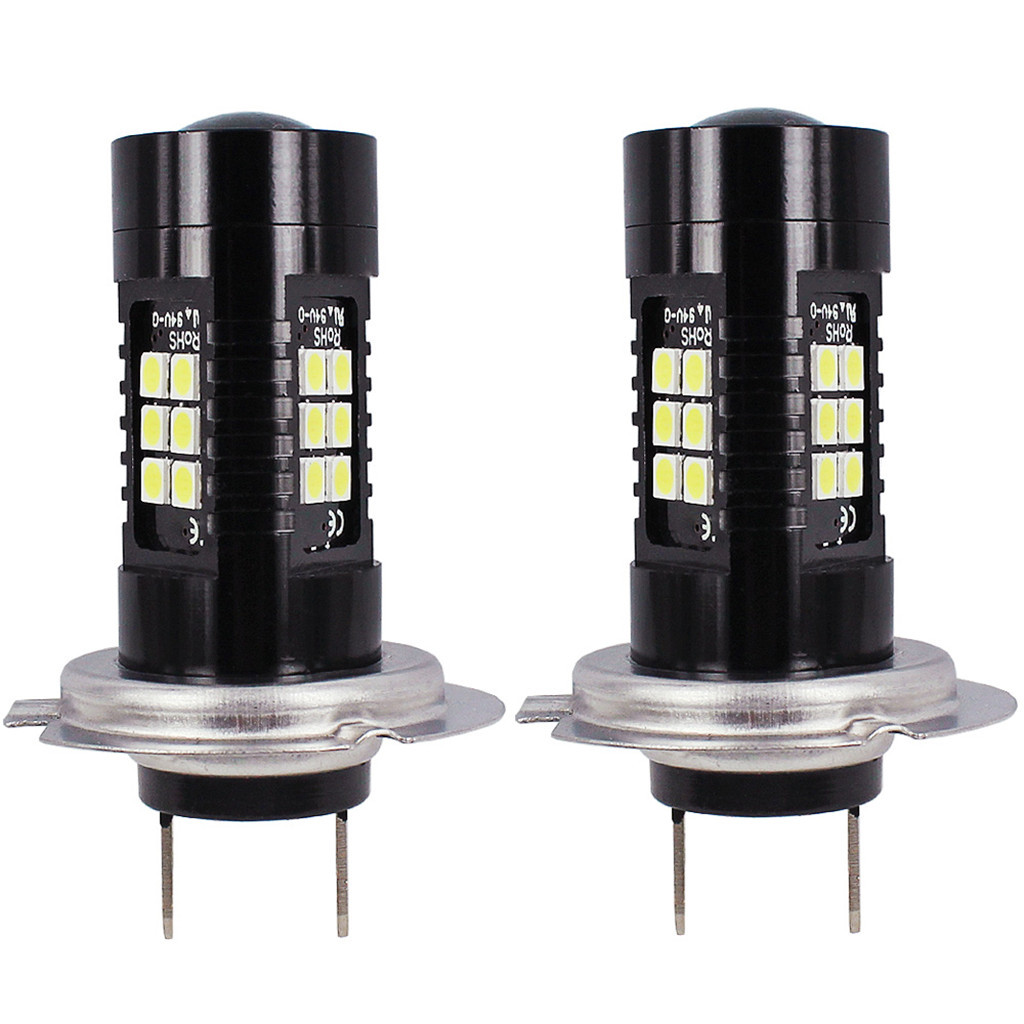 Image 2 - 2Pcs LED Fog Lights For Car 12V DC H7 3030 21 LED Lights White 6500K Car Fog Head Light Lamp Headlight Light Bulbs For Cars-in Car Fog Lamp from Automobiles & Motorcycles