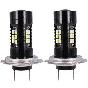 Image 2 - 2Pcs LED Fog Lights For Car 12V DC H7 3030 21 LED Lights White 6500K Car Fog Head Light Lamp Headlight Light Bulbs For Cars