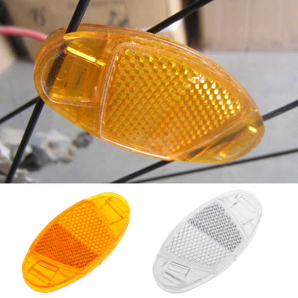 2pcs Bicycle Bicycle Wheel Safety Spoke Reflector Reflective Mounting Clip Warning Bicycle Reflector Bicycle Accessories