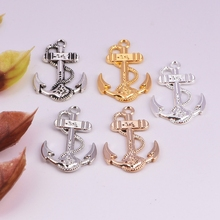 1pc  27mm ship anchor alloy charm pendant necklace diy European & American bracelet chain buckle accessories for women jewelry