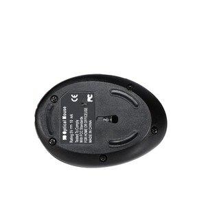 Image 2 - Беспроводная Вертикальная мышь 2,4 ГГц, эргономичная оптическая электронная мышь 2400DPI с USB Приемником, черный АБС пластик, для ноутбука, ПК, компьютера