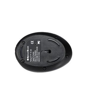 Image 2 - 2.4Ghz bezprzewodowa mysz pionowa ergonomiczna 2400DPI optoelektroniczna mysz odbiorcza USB czarna ABS do notebooka komputer stancjonarny