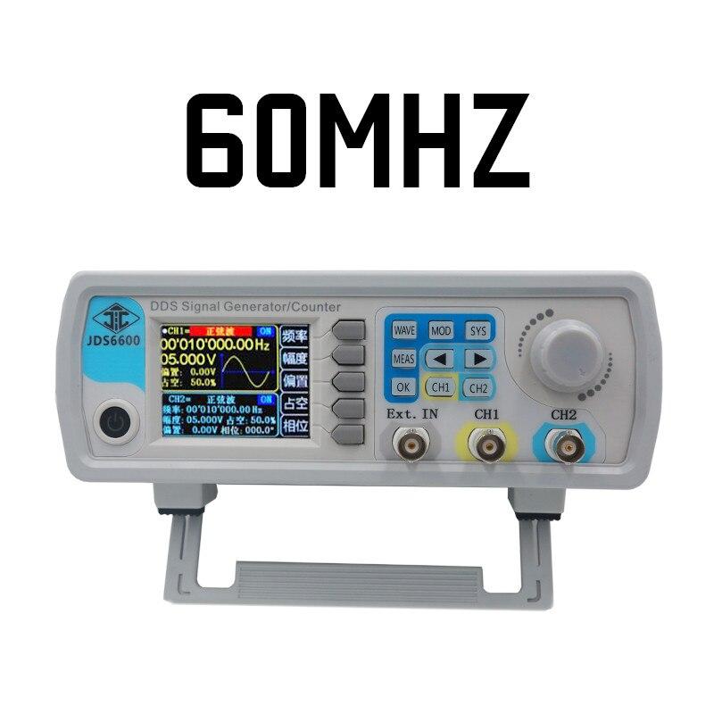 Numérique Contrôle JDS6600 MAX 60MHzDual-channel DDS Fonction Signal Générateur fréquence mètre Arbitraire Forme D'onde sinusoïdale 40% off