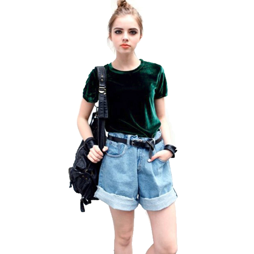HTB1WLqHSXXXXXaXXXXXq6xXFXXX9 - Summer Tops Short Sleeve Cotton Velvet T Shirt Women