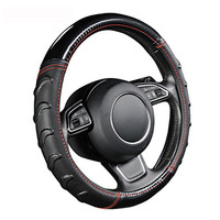 Fashion Massage Steering Wheel Cover For Ford fiesta mk4 mk7 2014 focus 1 2 3 mk1 mk2 mk3 2005 2006 2007 2009 2017 fusion 2015