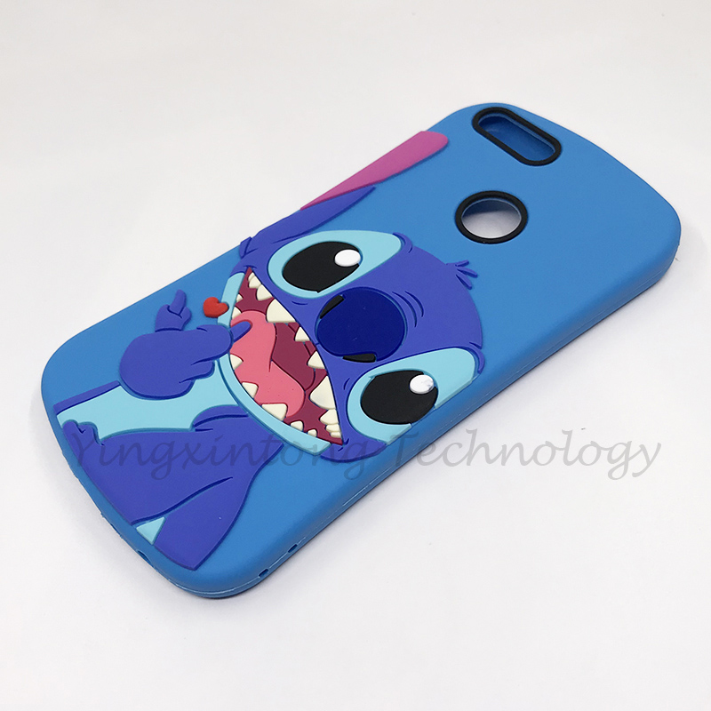 Silicone Case For Huawei P Smart 2018 Honor 9 Lite Case Cute Cartoon Stitch Soft Tpu Back Cover 360 Full Protective Phone Coque in Fitted Cases from Cellphones Telecommunications
