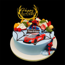 deco birthday cake topper children toy car for baby kids boys gift decorating spiderman mini