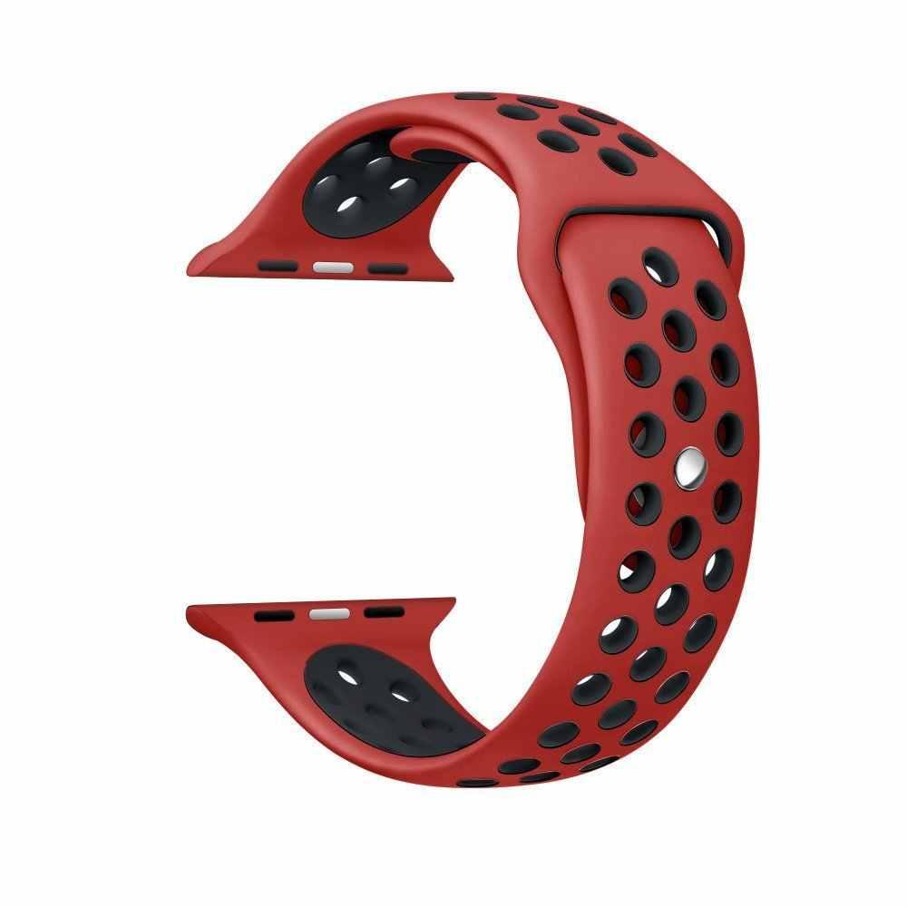 BUMVOR סיליקון רצועת עבור ספורט אפל שעון להקת 40/44/42/38mm עבור אפל שעון רצועה עבור iwatch להקת נייקי ML גודל סדרת 1/2/3/4
