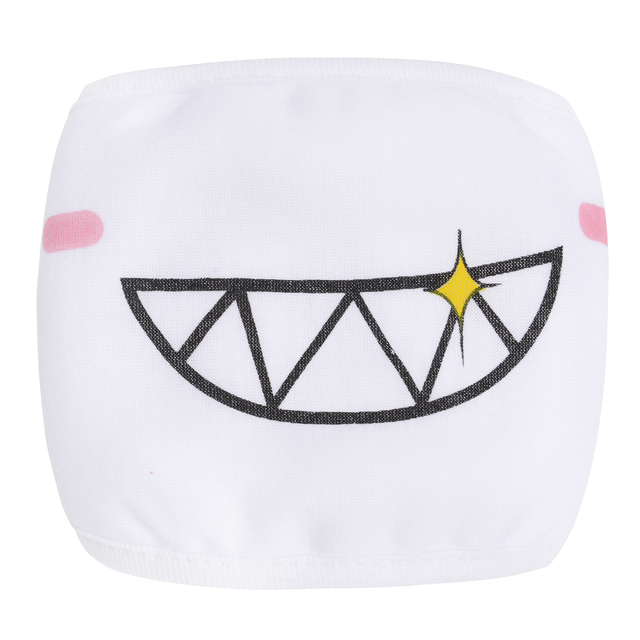 9PCS Cute Cartoon Face Mask Funny Teeth Pattern Anti-bacterial Dust Winter Unisex  Mouth Mask Emotiction Masque Kpop masks 4