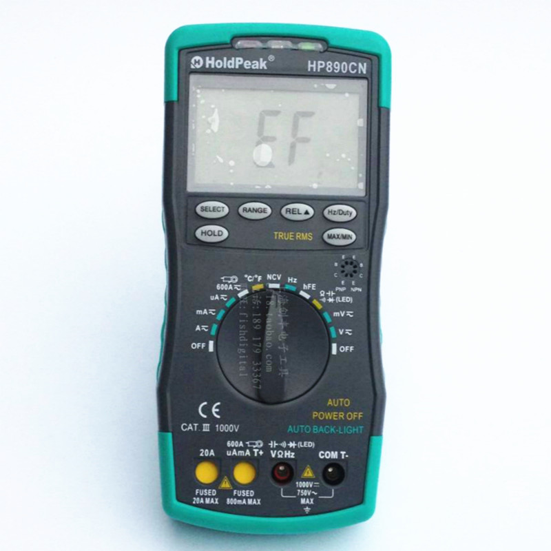 HoldPeak HP-890CN LCD Digital Multimeter DMM with NCV Detector DC AC Voltage Current Meter Resistance Diode Capaticance Tester mini multimeter holdpeak hp 36c ad dc manual range digital multimeter meter portable digital multimeter