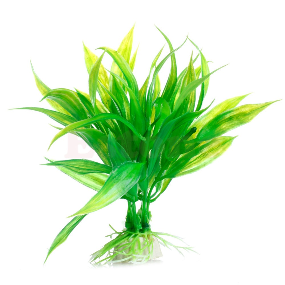New Green Artificial Plastic Water Grass Plant Ornament Fish Tank Aquarium Decor