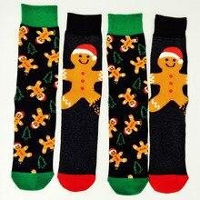 New Year Christmas Socks Men Kawaii Cartoon Snow Doll Happy Male Socks Coolmax C