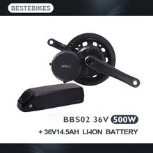Bafang BBS02 500w bbs02b 500w con batería de 36V 14.5Ah 8fun bafang moteur una batterie de motor y de batterij motore con batteria
