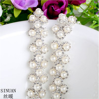 Rhinestone Chains Sewing Rhinestone Tape Diy Stone Decorations Stone Pearl Beads For Clothes Bags Crystals Stones Crafts
