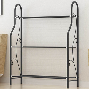 Image 5 - 3 layers Iron Outdoor Garden Plant Shelves Storage Shelf Simple Assembly Removable Bedroom Flower Pot Iron Rack for Balcony