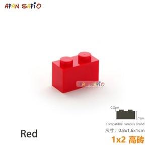 Image 4 - 25 sztuk/partia DIY bloki klocki grube 1X2 edukacyjne montaż budowlane zabawki dla dzieci rozmiar kompatybilny z lego