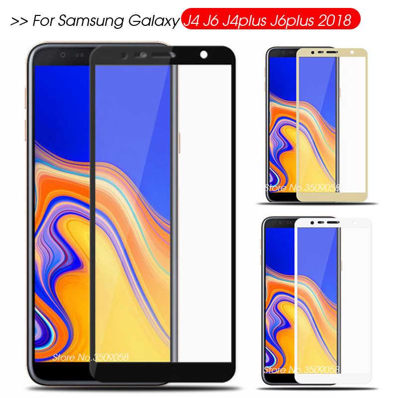 保護三星銀河 j6 j4 プラス 2018 スクリーンプロテクター j6plus j4plus 強化 Glas サムスン Samsong サムスンギャラックス Galxy j 4