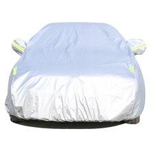Купить с кэшбэком Full Car Cover Single Layer Car-Covers Windshield Cover Sun Shade Ice Screen Car Covers Cobertor Automovil Covertor Para Auto