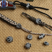TC4 Titanium Alloy Knife Pendant Umbrella Rope Folding Straight Phone Paracord knife Beads
