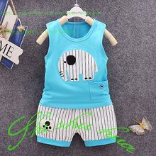 Baby clothes baby summer suit 0-2 years old boy and girls Summer Shorts + vest high quality cotton