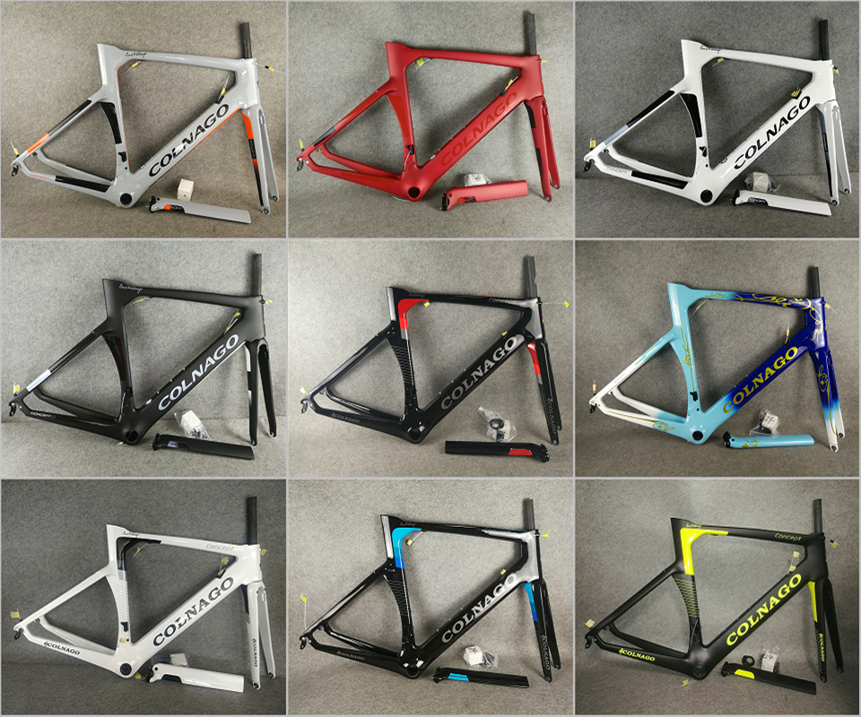 13 Painting T1000 UD Colnago Concept Carbon Road Frame Bicycle Frameset With BB68/BB30 XXS/XS/S/M/L/XL For Your Selection