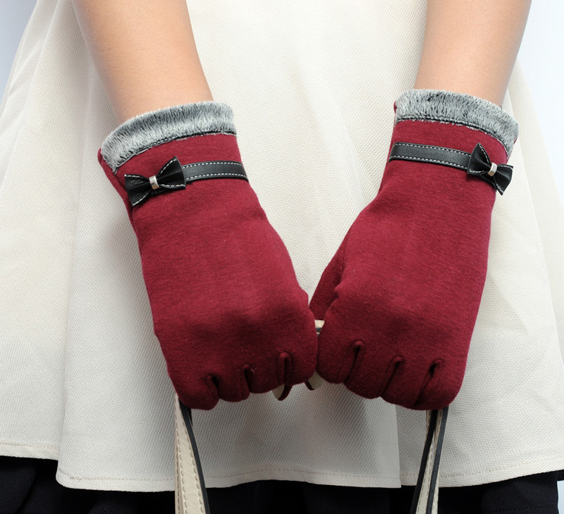 Red Heart Gloves for Couple Novelty Double Mitten to hold hands Froster Love Mittens