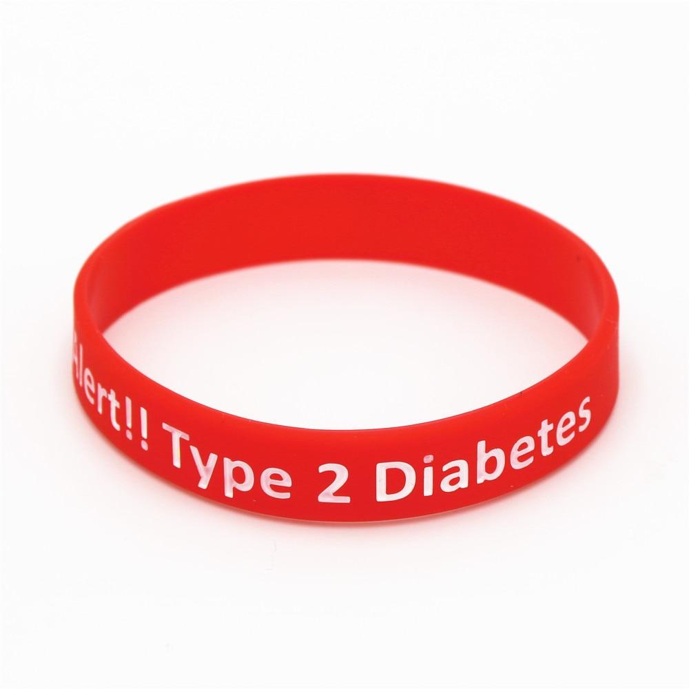Lukeni 1pc New Diabetic Bracelets Medical Alert Type 2 Diabetes Insulin Dependent Silicone Wristband Armband Nurse Bangles Sh060 In Hologram From