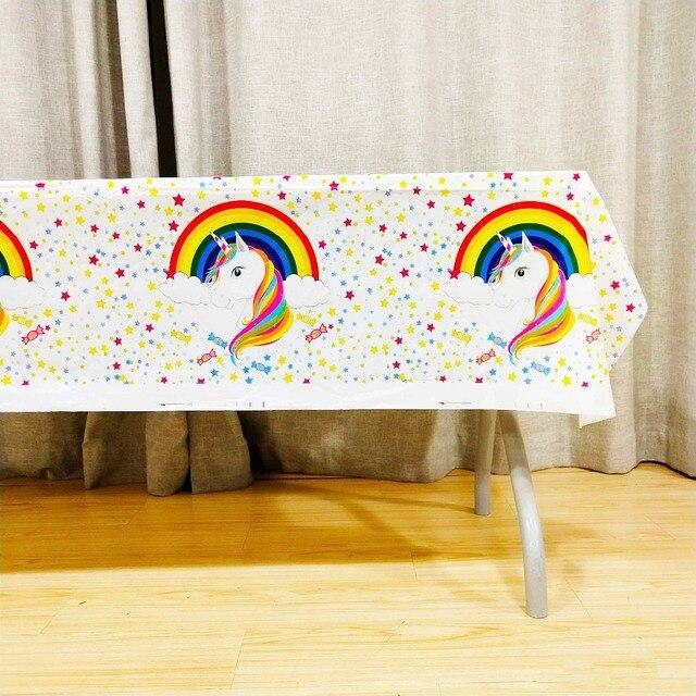 Arco Iris Unicornio Plastico Cubre Ninos Cumpleanos Fiesta